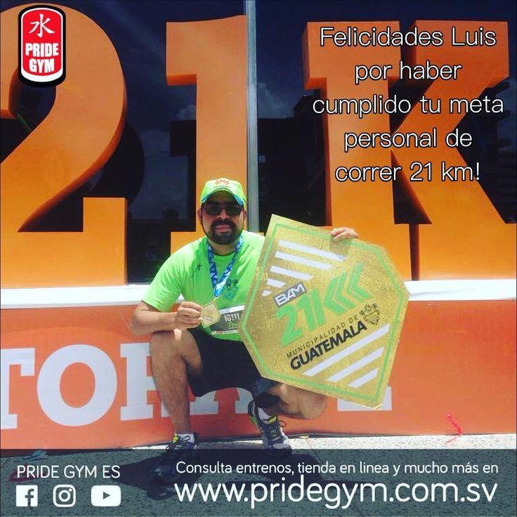 Felicidades Luis por haber cumplido tu meta personal de correr 21 km!