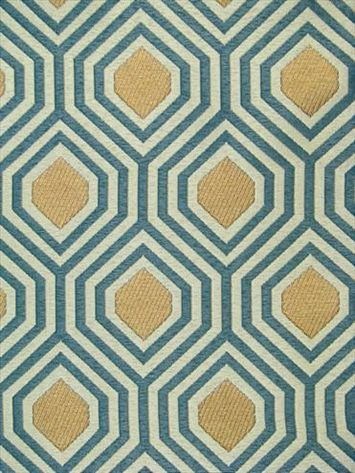 "$24.95/yd Galvani Peacock  100% polyester woven pattern from Kravet Fabric. Multi-use weight. Repeat: V-4.5"", H-3.5"". 54"" wide. 15,000 double rubs."