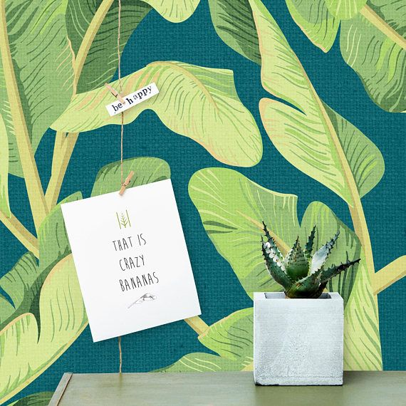 Banana Leaf Removable Wallpaper  Peel and Stick Wallpaper