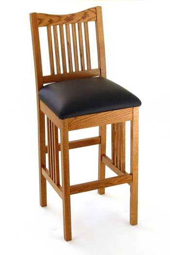 Classic Mission Breakfast Bar Chair - Bar Chairs - Amish Furniture Online