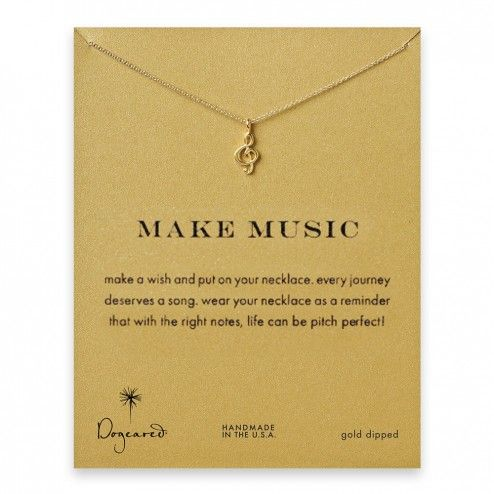 Dogeared Make Music Treble Clef Necklace