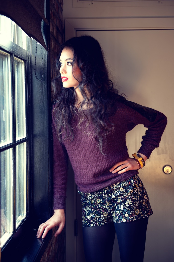 Sweater with printed shorts #SocialblissStyle #Shorts: