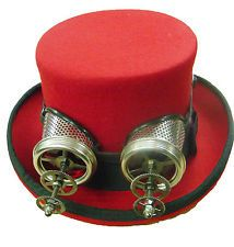 top Tops  Hats hat  with Steampunk london Hats red  d lens in Steampunk victorian  goggles   Top silver Red   fitflop stockists and