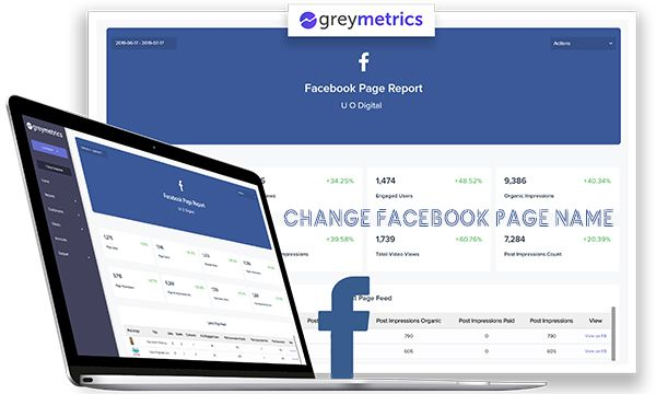 Change Facebook Page Name Change Facebook Name Facebook Page