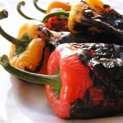 Easy Roasted Peppers Allrecipes.comSide Dishes, Easy Roasted, Olive Oils, Peppers Recipe, Belle Peppers, Bell Peppers, Basic Roasted, Roasted Peppers, Roasted Red Peppers