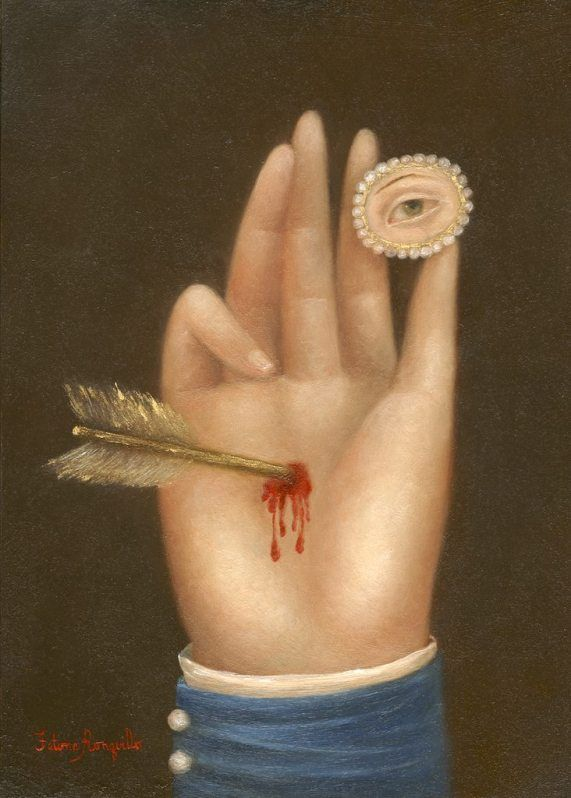 Wounded Hand with Lover's Eye by Fatima Ronquillo