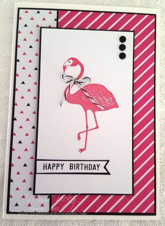 flamingo - Homemade Cards, Rubber Stamp Art, & Paper Crafts - Splitcoaststampers.com