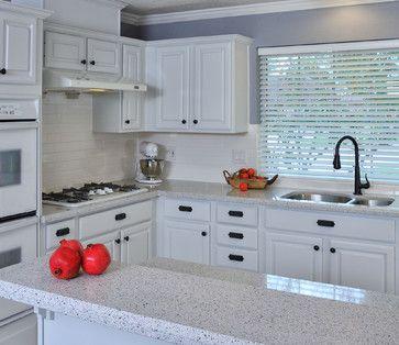 White Platinum traditional kitchen