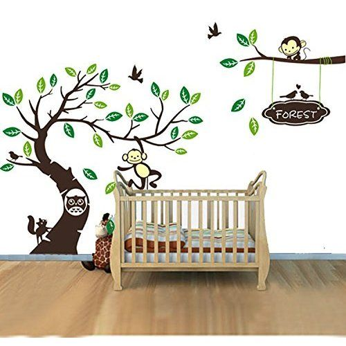Best Nursery Wall Decals Images On Pinterest Nursery Wall - Wall decals kids roomcartoon monkey climbing flower vine wall decals kids room nursery