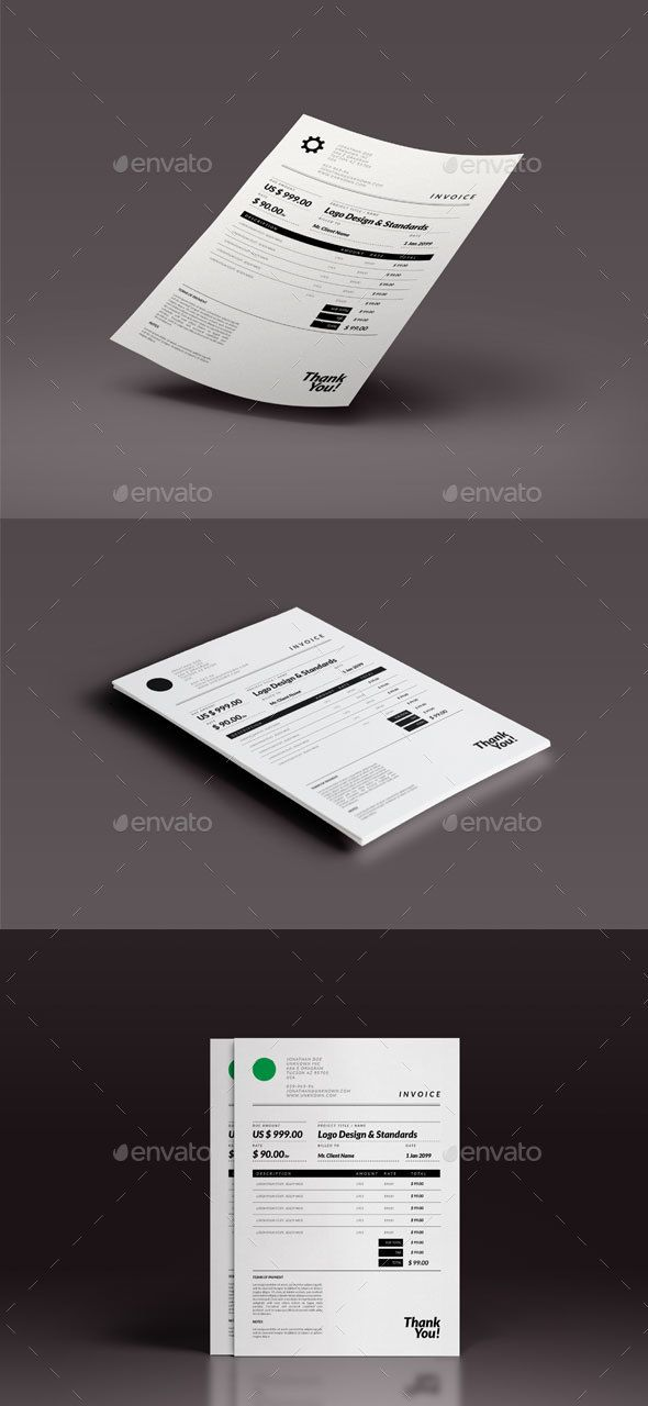 Best Proposal  Invoice Templates Images On   Hue