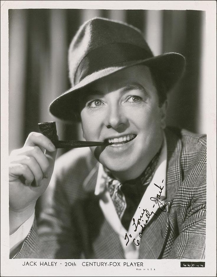 "John Joseph ""Jack"" Haley (August 10, 1898 – June 6, 1979) was an American stage, radio, and film actor."