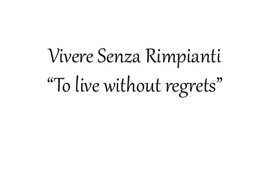 My new philosophy
