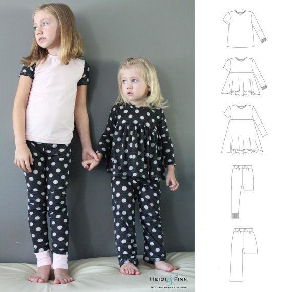 Alles was Sie brauchen Jammies Pyjamas Muster und von heidiandfinn