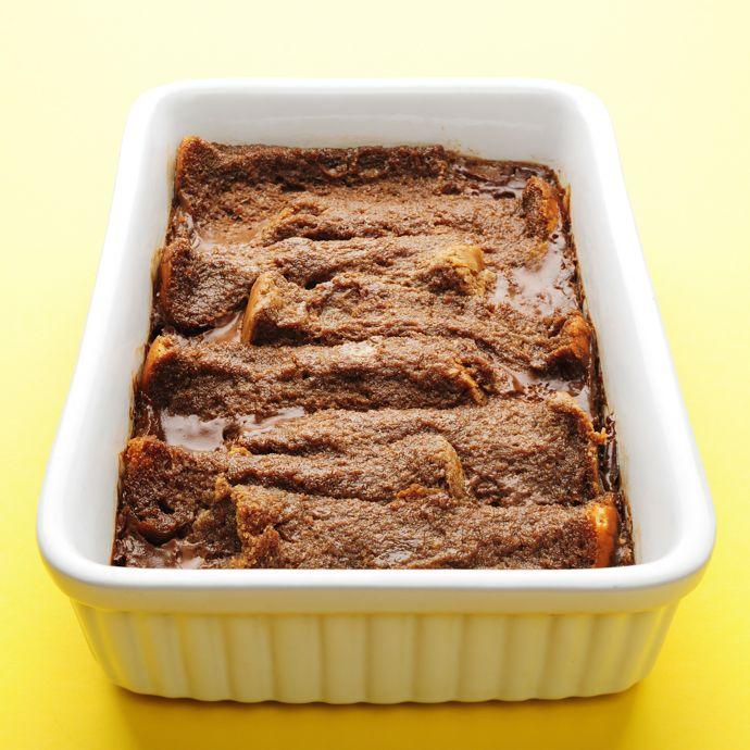 chocolate coconut and bread puding