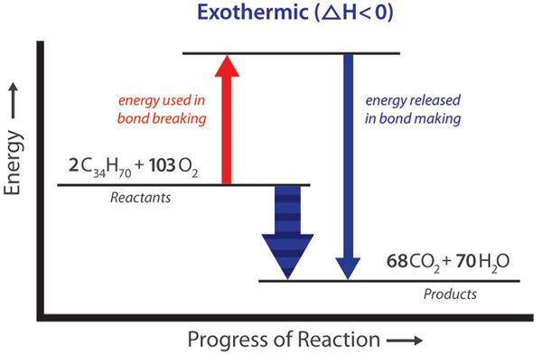experiment 5 enthalpy of chemical reactions Tutorial on chemical energetics, part 5 of 6 we survey some of the more common chemistry-related applications of enthalpy and the first law diagram for carbon and oxygen and its two stable oxides shows the changes in enthalpy associated with the various reactions this system can undergo.