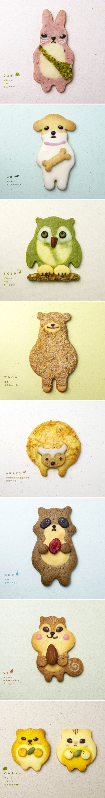 Cute animal cookies by henteco