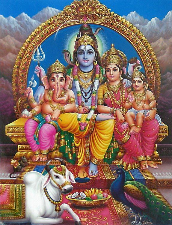 Plaatjes van Shiva & Parvati (& Ganesha) / Pictures of Shiva & Parvati (& Ganesha
