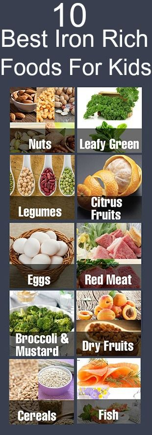 10 Best Iron Rich Foods For Your Kids