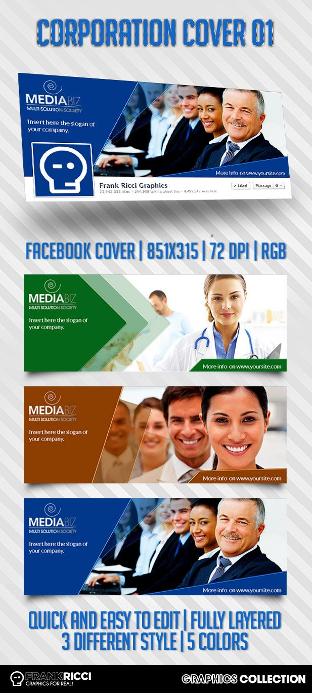 Cover Facebook Corporation 01 Template - Available on  http://frankricci.it/corporation-cover-01/