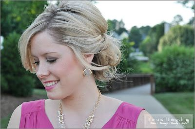 The Small Things Blog: hair tutorials: Small Things Blog, Hair Tutorials, Wedding Hair, Bridesmaid Hair, Medium Length Hair, Twists Updo, Updo Tutorial, Hair Style, Cute Hairstyles
