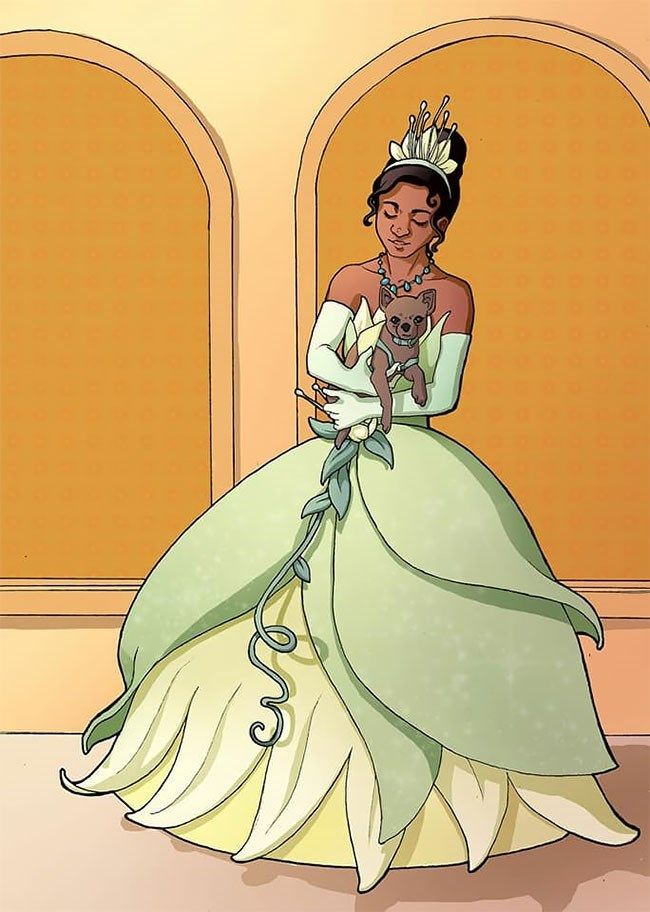 Artist With Autism Illustrates >> Artist Illustrates Disney Princesses With Service Dogs To Raise