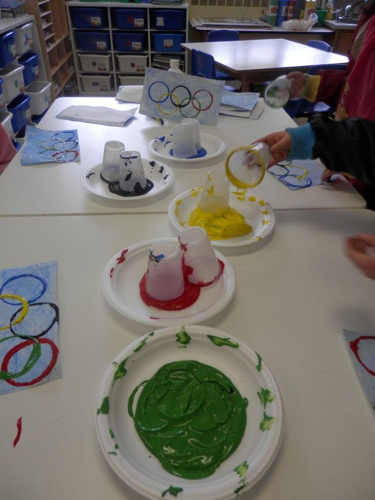 Bricolage Anneaux Olympiques givrés : étape 3