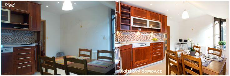 Home Staging mezonetového bytu v Praze na Malé Straně - kuchyň #homestaging #home #staging #Prague #vacant #apartment #attic #czech #cz #Praha #kitchen
