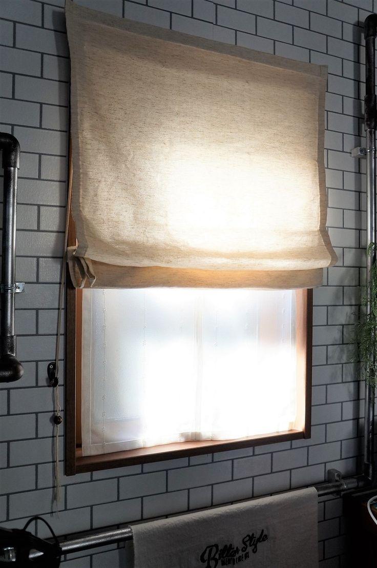 吹き抜けの大きな窓もシェードカーテン手作り出来るんです!全館ハンドメイド・うちのカーテン事情|LIMIA (リミア)