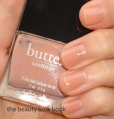 butter nail polish in a nude color.