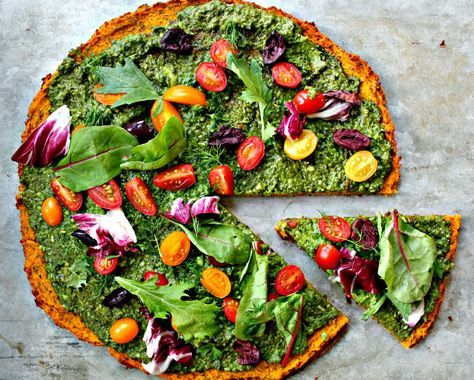 Green Squash Pizza | Whole Hearted Eats