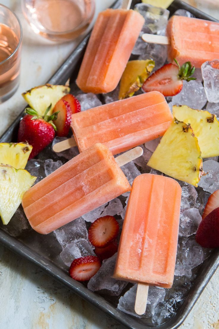 Passion Fruit Rose wine Popsicles
