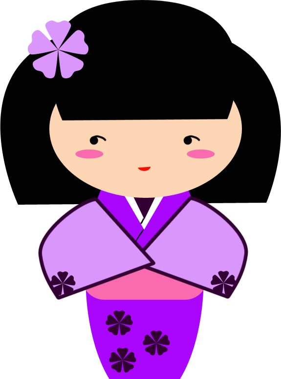 Ume, Purple Kokeshi Graphic by TionneDawnstar.deviantart.com on @deviantART