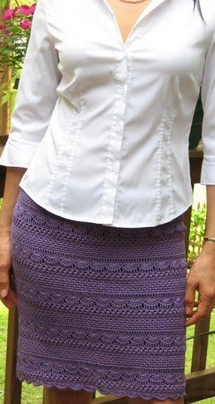 Patterned skirt crochet with graphs                                                                                                                                                      More