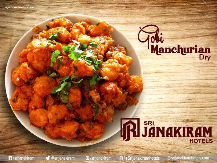 #Dry #Gobi #Manchurian, is a tantalizing Indian Chinese appetizer and very different from the gravy version, Perfect side dish for #fried #rice and Chinese style noodles only at Srijanakiram Hotels  #starter #side #dish #noodles #sauce #veg #fry #chinese #appetizer