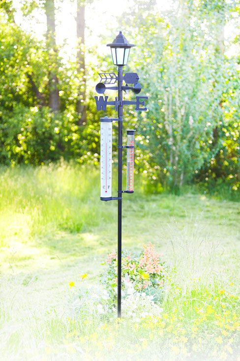 6-In-1 Weather Station With Solar Light