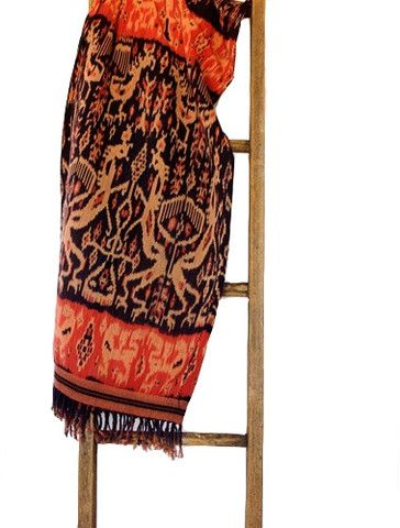 The wonder of ikat lies in the complex technique used to create them. Unlike batiks, where dyes are applied to an existing textile, Ikats use threads that are dyed beforehand, bound, sectioned, and immersed in the dyes. The bound sections don''t absorb the pigment and are repositioned for each new color. These patterns must be planned in advance and then hand-woven on a loom into an ikat. #ikat #blanket #SoutheastAsiaCollection  #Indonesia