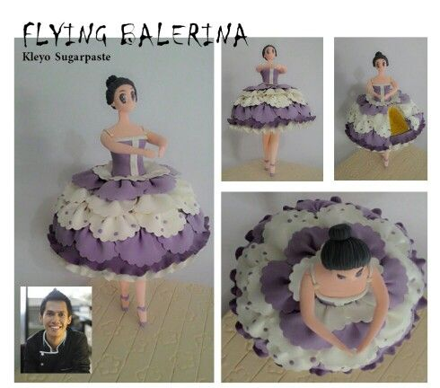 #Kleyo Sugarpaste #Flaying Balerina