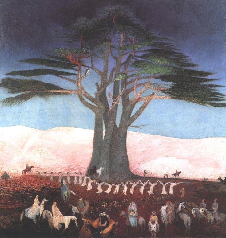 Csontváry Kosztka Tivadar - Pilgrimage to the Cedars in Lebanon, 1907 Oil on canvas, 200 x 205 cm Magyar Nemzeti Galéria, Budapest