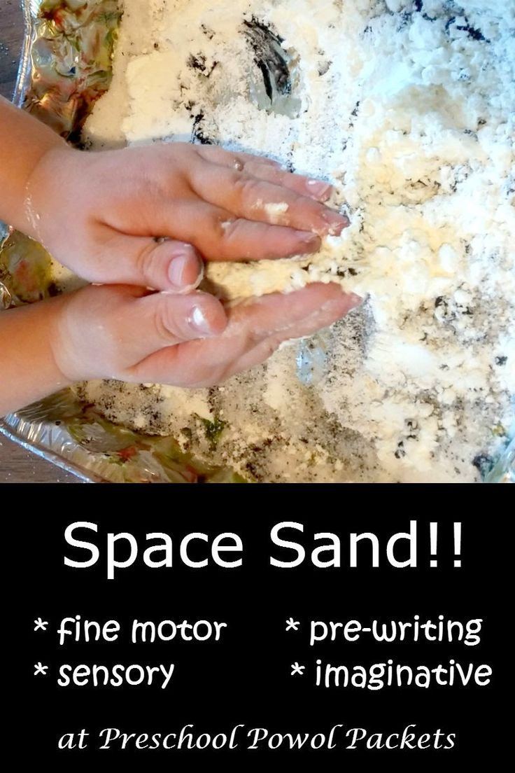 Space Sand for Fine Motor Skills & Letter Learning! | Preschool Powol Packets
