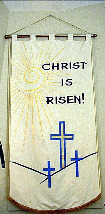 Easter banner for church.