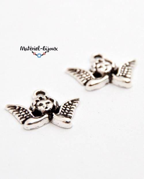 breloque visage d'ange avec leurs ailes pour la fabrication de bijoux fantaisie