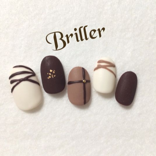 nail art like a chocolate …
