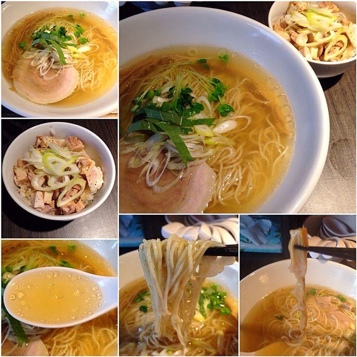 ラーメン+チャーシュー丼のランチセット@光麟堂(御成門) by ShioTonkotsu at 2014-09-25