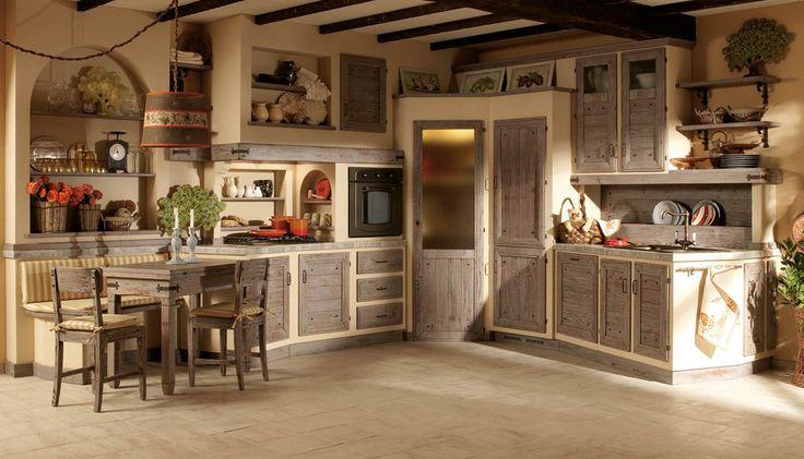 Cucina grigia con dispensa arredamento shabby cucine for Arredamento shabby country