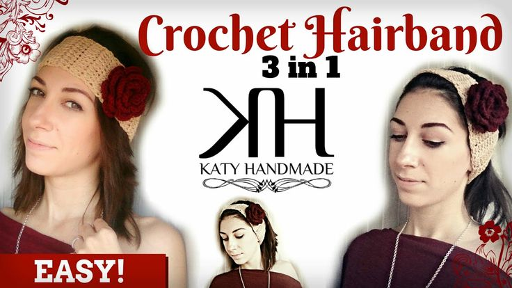 ❁ [Tutorial #16] Fascia per capelli | Hair band || Uncinetto/Crochet ❁