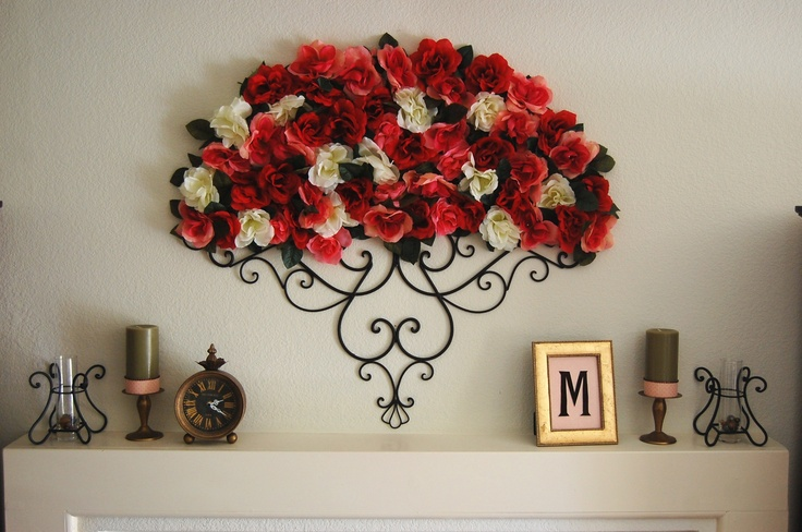 Decor created for a wall over a fireplace