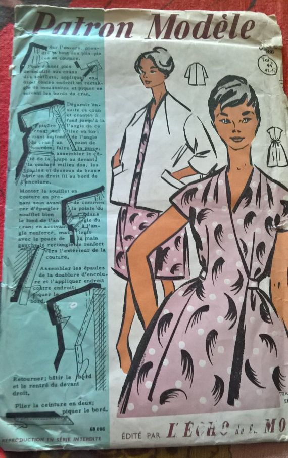 French vintage sewing pattern Patrons Modeles