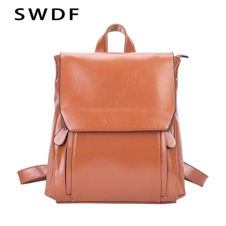 SWDF Women Vintage Backpack Designer High Quality Leather Backpack Teenage Girls Sac A Main Female School Tophandle Shoulder Bag. Yesterday's price: US $37.86 (31.01 EUR). Today's price: US $19.31 (15.97 EUR). Discount: 49%.