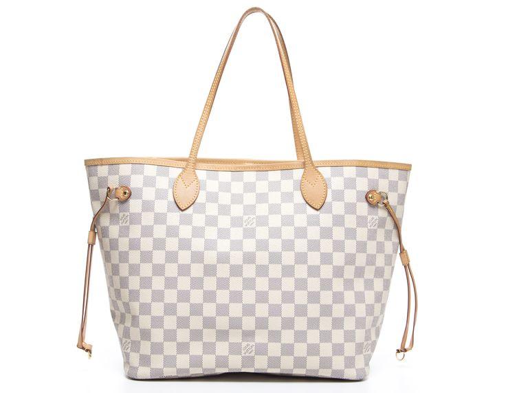 Louis Vuitton Damier Azur Neverfull MM Bag
