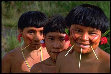 Yanomami tribe, Amazon rainforest on the border between Venezuela ...